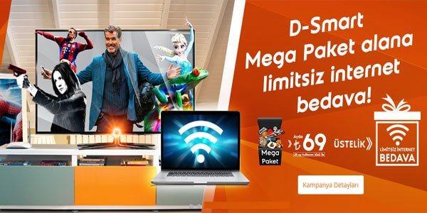 İnternet Fiyatına: D-Smart + İnternet